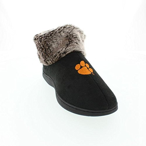 Comfy Feet CLE14-3 - Clemson Tigers Faux Sheepskin Fur Top Slipper Boots - Large (Boot Sheepskin Slippers Ankle)