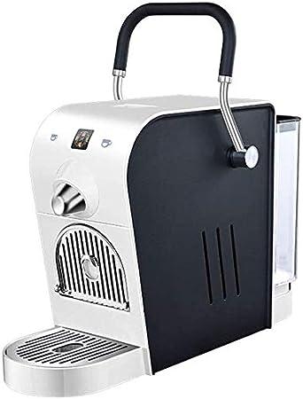 Cápsula eléctrica Máquina de café y 20 Bares de presión automática del hogar Diseño Compacto Tanque de Agua 0.8L 1400W 220V Compatible con Itálico/Martello Cápsula, Negro BTZHY (Color : White)