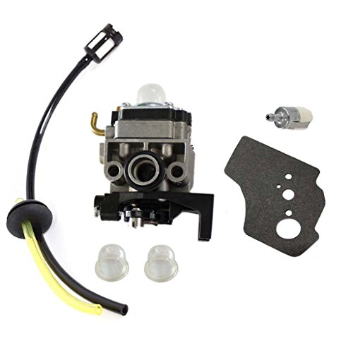 HURI Carburetor with Gasket Fuel Line Kit for Honda GX25 GX25N GX25NT FG110 FG110K1 16100-Z0H-825 25CC 1HP 4 Stroke Carb
