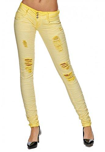 Elasticizzata F1700 Jolanda Jeans Giallo Donna Hipsters Da Distrutti Hosen Arizonashopping Tubo zRq8XHq