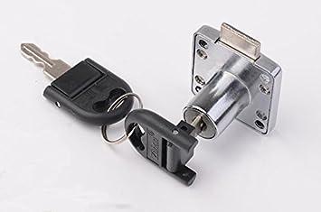 CTS/escritorio cajón/armario/mueble/armario puerta cerraduras de seguridad/ Lock/Locker Lock plegable llave: Amazon.es: Hogar