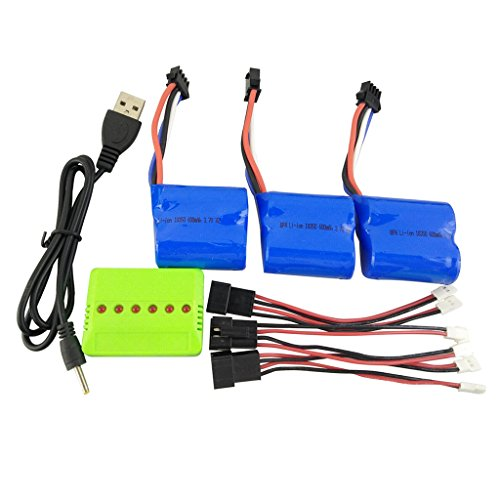 - sea jump 3PCS3.7V600mahLi battery + Balance charger + conversion line for UDI001 RC Boat spare parts Remote control speedboat lithium battery