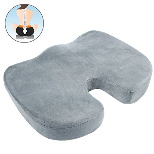 Buy Discount Memory Foam Seat Cushion for Office Chair, HIPPIH Seat Cushion for Car for Back Pain, C...