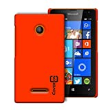Lumia 435 Case (Neon Orange) by CoverON® [Slender Fit] Series Hard Protective Slim Back Phone Cover For Microsoft Lumia 435
