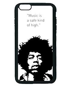 Jimi Hendrix Lyric Custom Diy Unique Image Durable Rubber Silicone Case Iphone 6 Plus - 5.5 inches