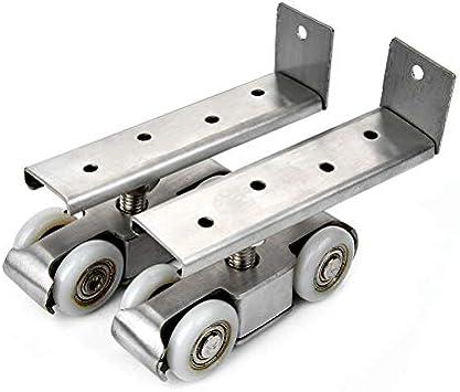 Rodillos de puerta corredera de aleación de zinc de 50 kg para dormitorio, madera, para colgar en la puerta, para sala de reuniones, armarios, puertas, ruedas para muebles: Amazon.es: Bricolaje y herramientas