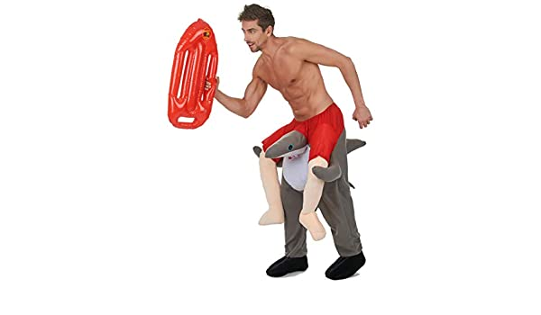 Vegaoo - Disfraz de Hombre montado en un tiburón - Única: Amazon ...