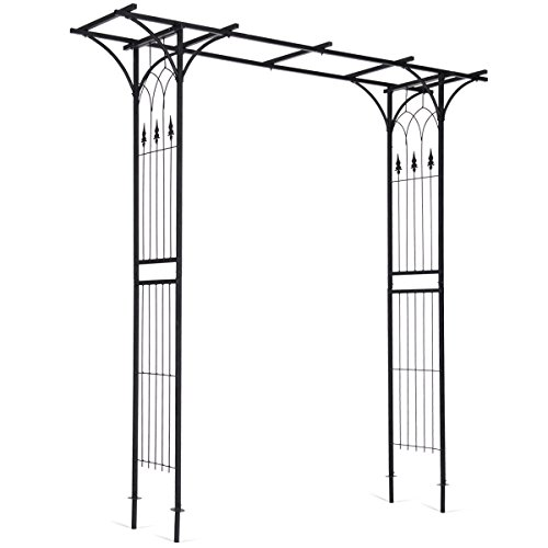 Giantex Garden Arch Metal Rose Steel Garden Arbor Decoration Climbing Plant Outdoor Garden - Garden Arch