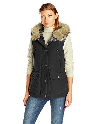 Pendleton Heritage Women's Pueblo Vest With Fur Collar, Black/bandolier Print, (Authentic Black Leather Vest)