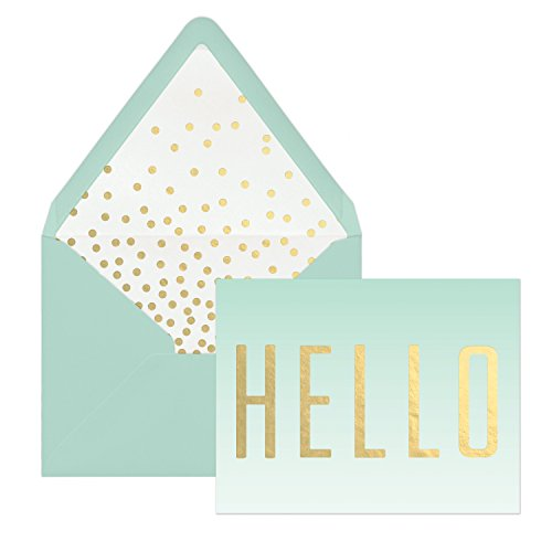Designworks Ink 12-Count Boxed Note Cards, Ombre- Hello 12 Boxed Notes