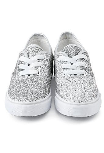 Balera Shoes Girls For Dance Zapatillas Para Mujer Con Escarcha Lace Up Shoes Plata