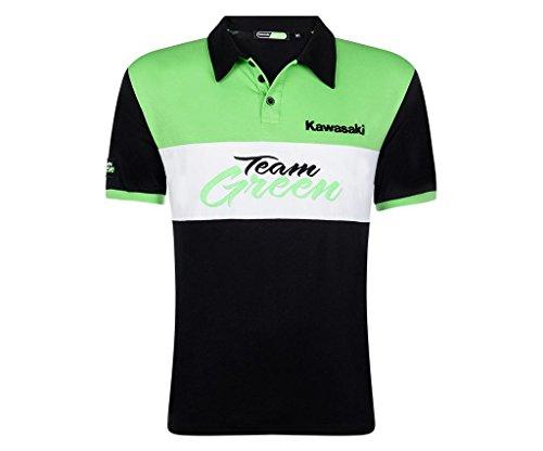 Kawasaki TEAM GREEN Polo Shirt ! schwarz grün weiß