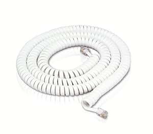 50' Modular Handset Cord - White TS-650