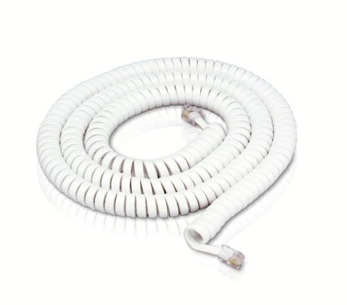 Trisonic 50 Modular Handset Cord - White TS-650 by Trisonic (Image #1)