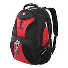 Pack all of your gear and then some in this extra-roomy, full featured laptop backpack. The SWISSGEAR 1900 ScanSmart Laptop Backpack is made from durable 1200D ballistic polyester fabric and is equipped with a large opening main compartment w...
