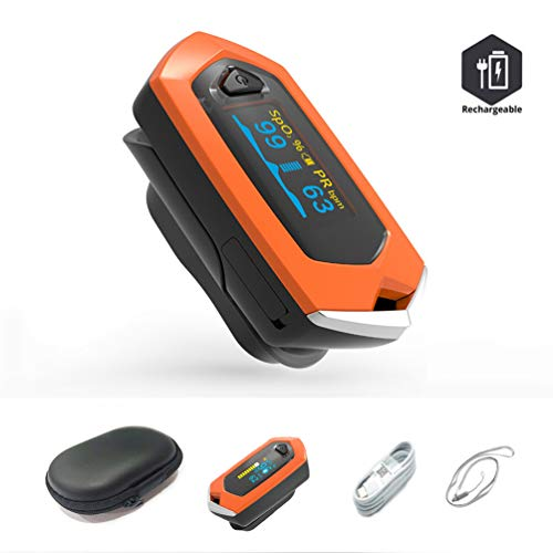BINLEFOIS 3 in 1 Fingertip 0ximeter Fitness Oxygen Saturation Monitor with PR and SP02