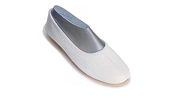 Beck - Zapatillas de gimnasia de cuero para mujer, color negro, talla 32