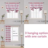 Deconovo Striped Tie Up Blackout Curtains Rod
