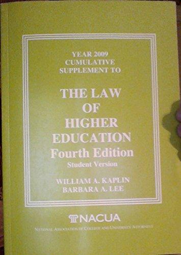 Year 2009 Cumulative Supplement to