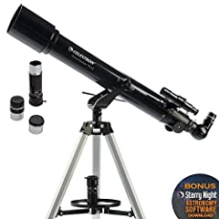 Whether you're an amateur astronomer or becoming more comfortable with using a telescope, you'll love the technology and user-friendly features packed into Celestron's PowerSeeker refractor telescope. The Celestron PowerSeeker 70AZ is a power...