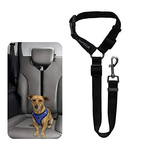 BWOGUE Pet Dog Cat Seat Belts, Car Headrest Restraint Adjustable Safety Leads Vehicle Seatbelt Harness (Car Harness And Seat Belt Dog)