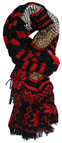 Ted and Jack - Classic Fair Isle Pattern Winter Warm Scarf in (Fair Isle Scarf Pattern)