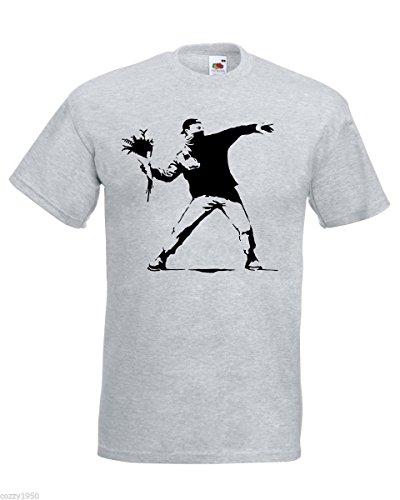 Protest Patriote Gratuit Cadeau Opposition T Au Gris Modèle Banksy Décalque shirt Hasard Avec Fleur Désordre Hommes Lanceur 8wCfIwq