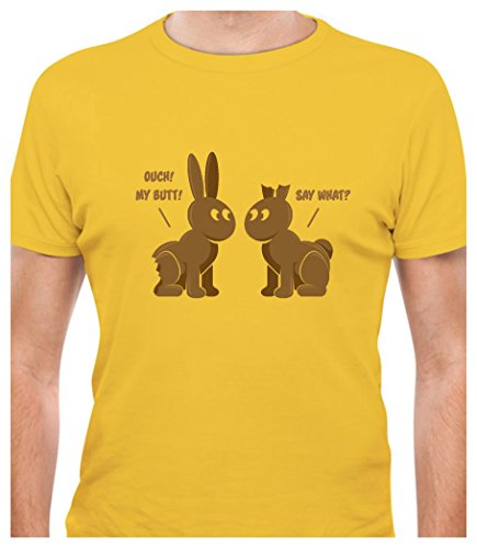 - Tstars TeeStars - Easter Chocolate Bunnies Funny Gift For Easter Holiday T-Shirt X-Large Yellow