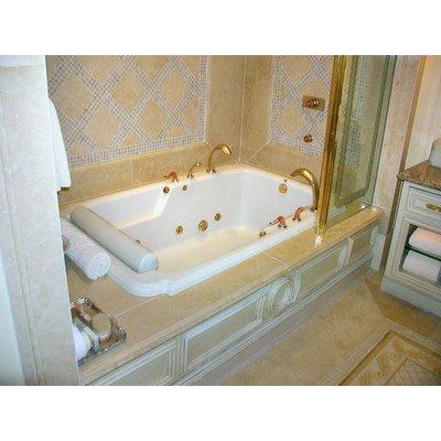 Designer atlandia whirlpool bathtub for Bathtub material comparison