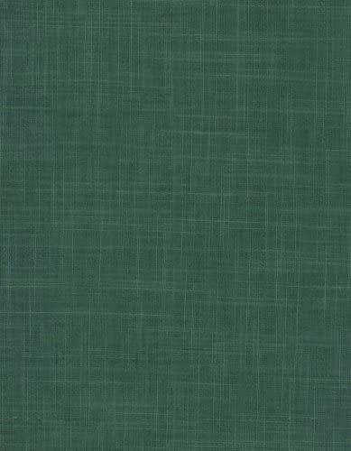Amazon Com Elegant Linen Series 9821 Hunter Green Vinyl Tablecloth 54 X 75 Roll Kitchen Dining