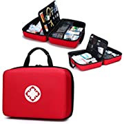 Portable Waterproof First aid kit,Multipurpose First Aid Kit Drug Packing,Lightweight First Aid Bag for Home,Community…