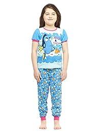 Girls 2-Piece Cotton Pajama Set,Top & Jogger Pants