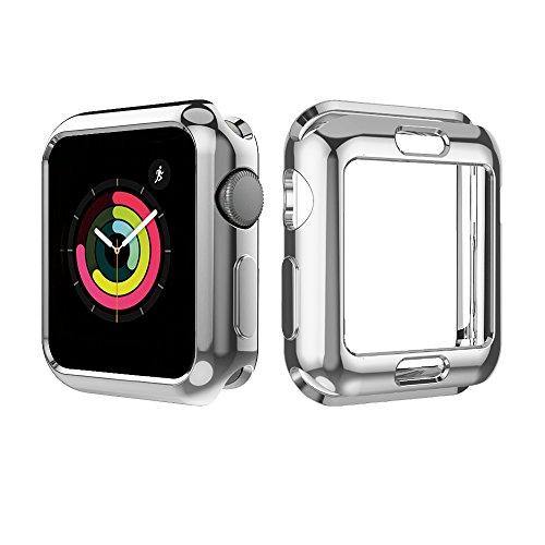 UBOLE Case for Apple Watch 38mm, UBOLE Scratch-resistant Flexible Lightweight Plated TPU Full Body Protective Case for iWatch Series3, Series 2, series 1 (5PACK, 38mm) by UBOLE (Image #2)