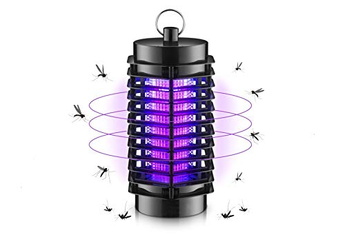 Electric Indoor Bug Zapper - Built in Insect Trap Light Bulb - Fruit Fly Catcher LED Lamp – Insect Mosquito Killer – Eliminates Most Flying Pests – for Residential