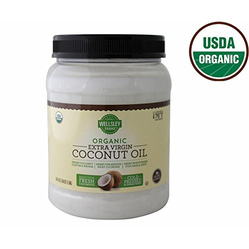 Wellsley Farms Organic Extra Virgin Coconut Oil, 54 oz. (pack of 6) by Wellsley Farms