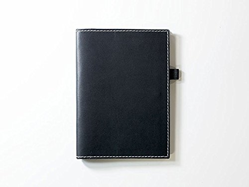 Leather Journal Case with Pockets and Pen Holder with Lined Paper Refillable Leather Cover of Black Color Full-Grain Horween Dublin Leather Personalized with Initials or Name Different Sizes Field Notes