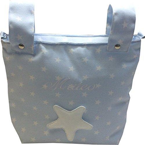 bolso bebe carro bandolera estrella azul con nombre: Amazon.es: Handmade