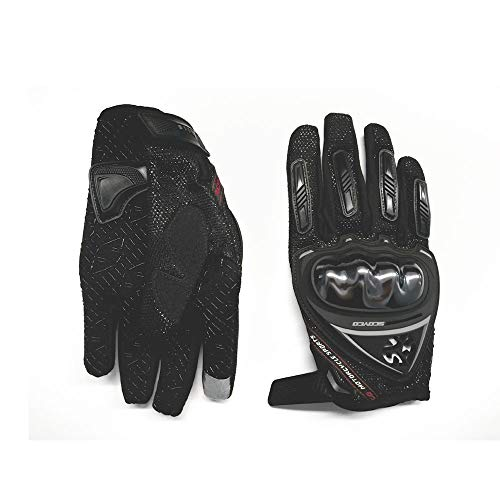SCOYCO Men's Race Extreme Sports Protective Outdoor Motorcycle Gloves(Black,XL) by SCOYCO (Image #4)