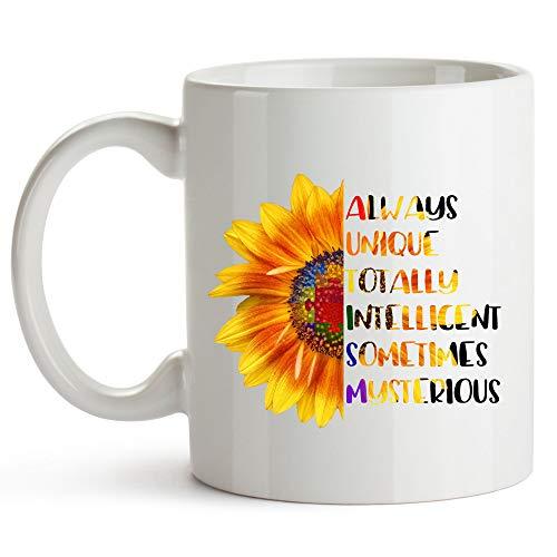 Autism Awareness Mug Autism Mom Coffee Mug Autism Awareness Products Teacher Autism Puzzle Piece Autism Dad Mug Autism Grandma ()