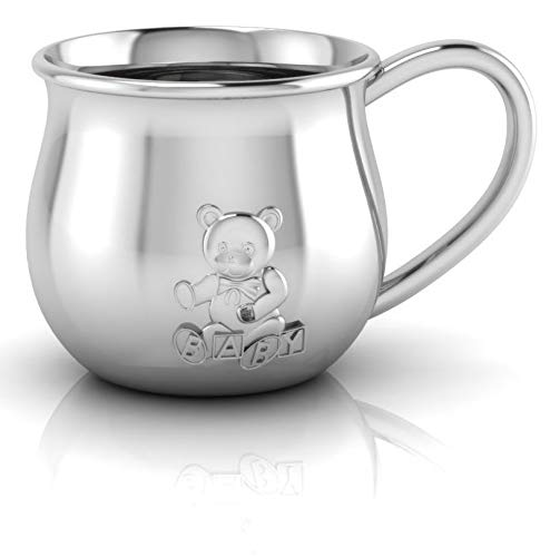 Miza Sterling Silver Teddy Embossed Baby Cup
