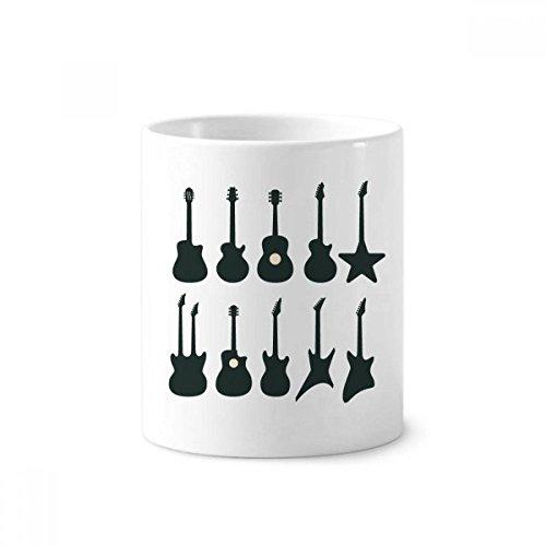 (Electric Guitar Music Vitality Sounds Toothbrush Pen Holder Mug White Ceramic Cup 12oz)