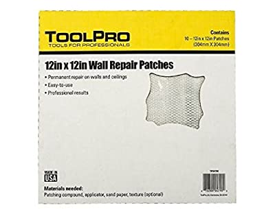 "ToolPro 12 x 12"" Wall Repair Patches, 10 pack of patches"