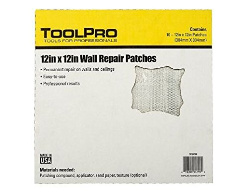 ToolPro 12 x 12 Wall Repair Patches 10 pack of patches