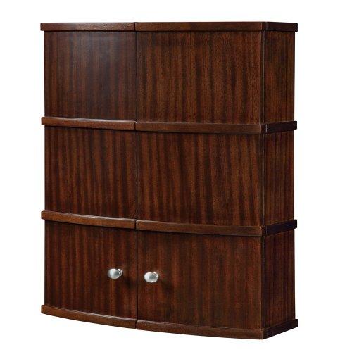 (DECOLAV 5253-MMG Olivia 22-Inch Curved Wall Cabinet, Mahogany)