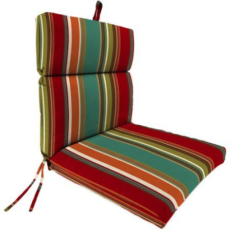 Jordan Manufacturing Outdoor Patio Replacement Chair Cushion, Westport Teal (Cushions Replacement Jordan)