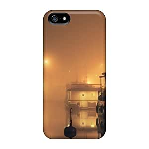 Ideal LastMemory Case Cover For Iphone 5/5s(foggy Harbor At Night), Protective Stylish Case