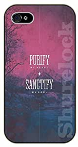 iphone 6 4.7 Bible Verse - Mountains. Purify my heart, sanctify my soul - black plastic case / Verses, Inspirational and Motivational