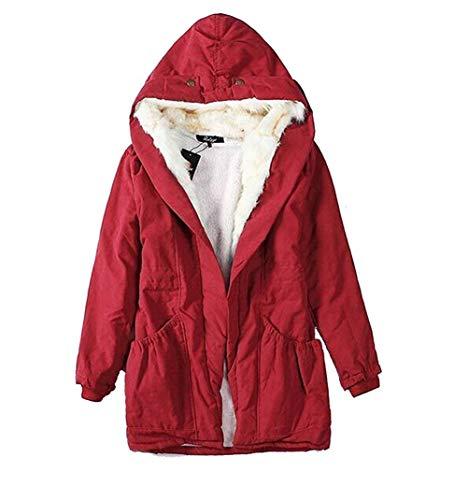Invernali Stile Addensare Inclusa Tasche Colori Cintura Con Giacca Mantello Anteriori Rot Cappuccio Abbigliamento Di Manica Cappotti Pelle Solidi Lunga Donna Modern Button TAEqR
