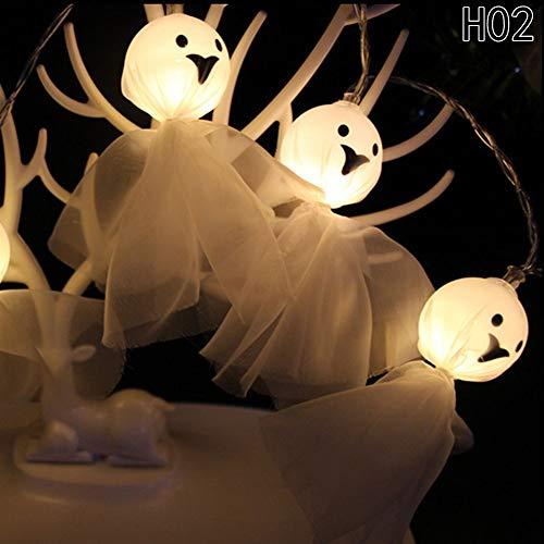 (Lighting Strings - 1 Pc Halloween Lights Ghost Shape Backyard String Decoration Lamp Party Holiday - Indoor Draping Strings Lighting Lighting Strings Terrarium Decor Home Garden Miniature)