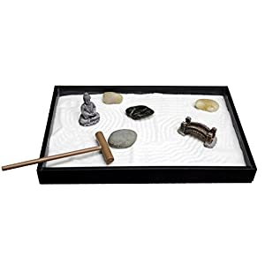 Natures-Mark-Mini-Meditation-Zen-Garden-8-X-5-inches-with-Figures-and-Natural-River-Rocks